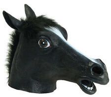 Black Beauty (Horse) Rubber Mask Fancy Dress Costume Outfit Prop