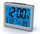 Sonnet Atomic Desk Digital Month, Day, Date, Temp Snooze Alarm Clock T-4652
