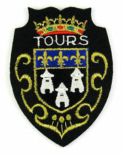 ECUSSON VILLE  REGION BLASON BRODE EMBROIDERED PATCH MERESSE TOURS