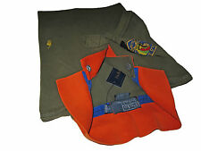 Polo Ralph Lauren Military Green Blaze Orange Indian Chief Patch Guide Shirt L
