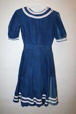 antique vtg Victorian 1900s swimsuit bathing suit blue white cotton Lot 296