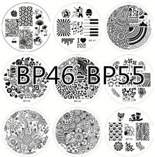 10pcs BORN PRETTY Nail Art Stamping Plates Image Stamp Template  #46- 55