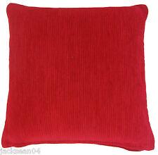 """SCARLET PILLAR BOX RED THICK HEAVYWEIGHT CHENILLE CUSHION COVER 18"""" - 45CM #PAR"""