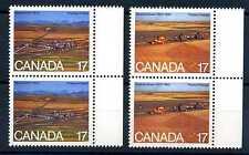 CANADA - 1980 - 75 anni delle province di Saskatchewan e Alberta. Coppia angolo