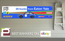 Ford RS Escort Mk 2 Garage Banner for Workshop, Retro, Rally Eaton Yale Escort