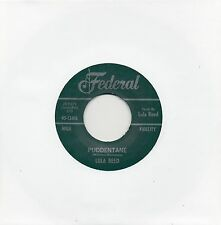 LULA REED   PUDDENTANE / I GOT A NOTION    FEDERAL Re-Pro/Re-Issue R&B/NORTHERN