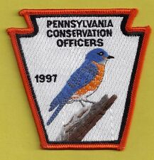 "Pa Pennsylvania Fish Game Commission NAWEOA Related 1997 Bluebird 4"" COPA Patch"