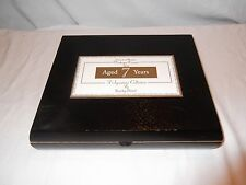 Beautiful solid wood cigar box with hinged lid, fitted interior Rocky Patel TORO