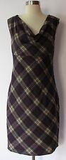 Ted baker london sleeveless lined  winter wool plaid dress size 3 sz 8 US