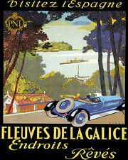 VISIT SPAIN GALICIA DREAM PLACES CAR TRAVEL 8X10 VINTAGE POSTER REPRO FREE S/H