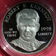 1998 Robert F Kennedy RFK Proof Silver Dollar Commemorative US Mint Coin ONLY