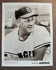 1965 BOB LEMON Seattle Angels Popcorn Card premium 8x10 PCL baseball photo HOF