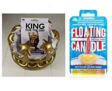 KING per il giorno GONFIABILE CROWN & GALLEGGIANTI CANDELA Bundle Set