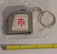 "3 Ft. 1/4"" Tape Measure Keychain Mini Pocket Size Key Chain Ring 3 foot - 3"