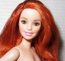NUDE BARBIE ~ PETITE AUBURN FRECKLES MILLIE FASHIONISTA DOLL FOR OOAK