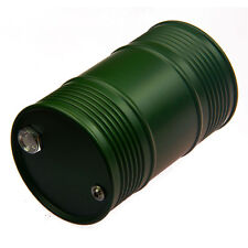 Aluminum Oil Fuel Drum Tank For 1/10 SCX10 AX10 RC Crawler Truck Car Green