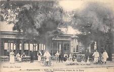 CPA 95 FRANCONVILLE CAFE DU COMMERCE PLACE DE LA GARE (cpa pas courante