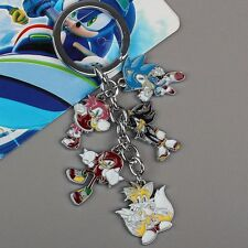 5 X Sonic The Hedgehog Collection Metal Keychain Anime Keyring Game Key Chain