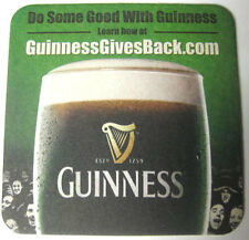 GUINNESS ST PATRICK'S DAY 2013 Stout Beer Coaster Mat, IRELAND Paint Town  Black