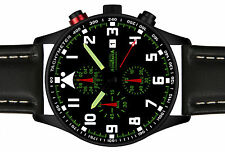 ASTROAVIA PILOT No.1L BLACK EDITION 6 ZEIGER CHRONOGRAPH XL 42 mm FLIEGERUHR