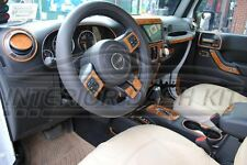JEEP WRANGLER UNLIMITED SAHARA INTERIOR BURL WOOD DASH TRIM KIT 2011 2012 2013