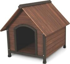 NEW DOCKOCIL 25038 RUFF-HAUZ 50-90 LB DOG  DOG HOUSE WOODEN PEAK ROOF 3718517