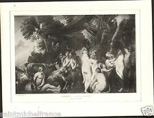 Nymphes & Satyres Satyrs Nymphs Jacob Jordaens Painter Netherlands PLANCHE 1906