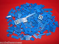 LEGO LOT DE VRAC BLEU PIECES DIVERS