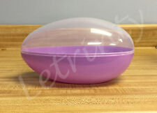 """Purple Jumbo Plastic Egg Shaped Containers, 7.75"""" Easter, Big, Giant, Fillable"""