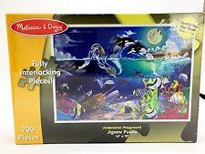 Melissa & Doug Puzzle Underwater Playground Orca Dolphin Sea Turtles 200 PC New