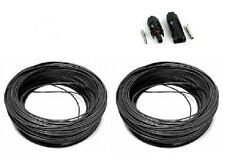 2 x 5m DC rated 1000V 4mm Solar Panel PV Cable With 1 Free Pair MC4 connectors