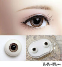 1/3 1/4 1/6 bjd 12mm brown glass doll eyes with box super dollfie #EB-24