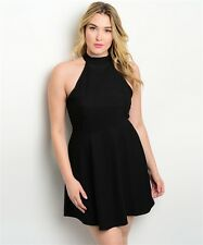 WOMEN'S PLUS SIZE SEXY FLIRTY A-LINE LITTLE BLACK DRESS 1X NWT