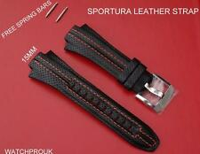 SEIKO LEATHER STRAP BAND WATCHBAND SPORTURA 7T62-0ED0 H023 SNA595P2 00E8X913