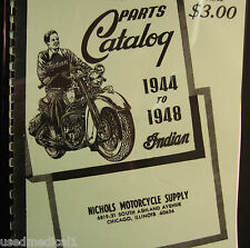 Indian  1944-1948  Parts Catalog All Models 56  Pages Illustrated Free Shipping