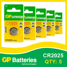 Gp lithium bouton batterie CR2025 (DL2025) carte de 5 [watch & calculatrice + autres]