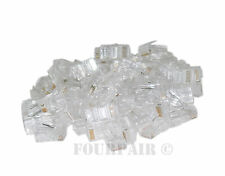 50 Pack - RJ45 8P8C CAT6 Crimp-On Connectors Plugs Ends For Stranded LAN Cable