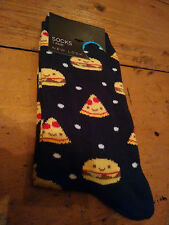 Womens's Novelty New Look Fun Socks - Fast food Burger Pizza - One Size