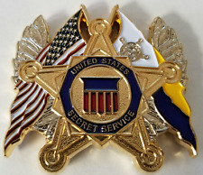 USSS United States Secret Service Dual Flags & White House Seal - SA & UD Coin
