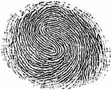 A4 Poster - Binary Fingerprint (Crime Forensics Police CIS Picture Print Art)