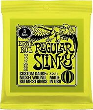 Ernie Ball Paquete De 3 Regular Slinky Nickel Wound Cuerdas Guitarra Eléctrica