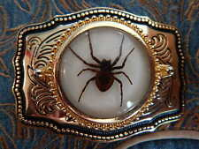NEW HAND CRAFTED IN U.K.GOLD METAL BELT BUCKLE  SPIDER WESTERN COWBOY GOTH