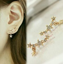 Shining Full Bore Little Star Spherical Crystal Flower Stud Earrings For Women