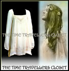 River Island Cream Victorian Boho Hippy 60s Crochet Lace Dress / Tunic Top UK 8