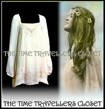 River Island Cream Victorian Boho Hippy 60s Crochet Lace Dress /Tunic Top UK 14