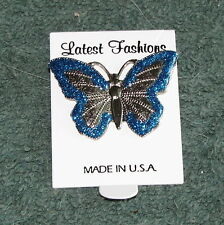 Fashion Butterfly Sparkle Glitter Pins Brooches