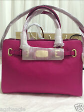 Michael Kors Bag MK Hamilton 35F0GHMT3L East West Leather Satchel Fuschia Agsb