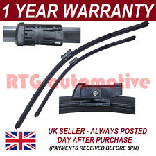 "FOR FIAT 500 2007 ON DIRECT FIT FRONT AERO WIPER BLADES PAIR 24"" + 13"""