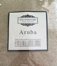 "Stratford Park Home Fashions ARUBA Grommet-Top Panel SAND 54""WX84""L A12"