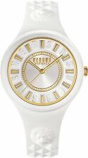 Versus by Versace Women's Fire Island Wristwatch SOQ040015 IPYG White Silicone